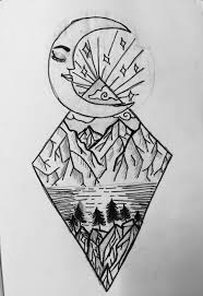 drawing ideas moon doodle easy drawing cool black drawing