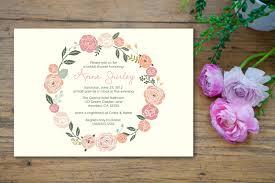 pastel flower bridal shower invitation customized 5x7