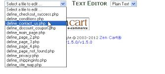 zen cart how to set up contact form and edit contact information
