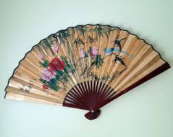 asian fan asian fan wall decor etsy