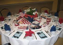 25 patriotic decoration ideas for white red and blue party table