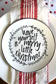these graphic black and white plates with a