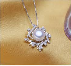 natural freshwater pearl necklace images Natural freshwater pearl cz hawk eye mother 39 s pendant mr016p rojaai jpg