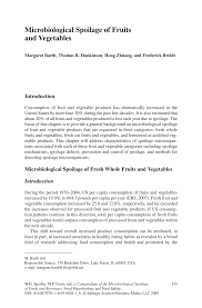 microbiological spoilage of fruits and vegetables pdf download