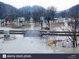 Flooding Missouri Map Flooding On The Mississippi River Near Canton Missouri Stock Photo