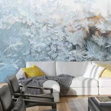 online shop winter rime white colour livingroom background 3d