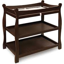 Badger Basket Espresso Sleigh Style Changing Table Free Shipping