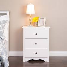 white stained bed side table with three drawer and rounded bedroom ikea white nightstand tags three drawer large together