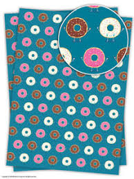 donut wrapping paper brainbox candy donut wrapping paper gift wrap 2 sheets birthday