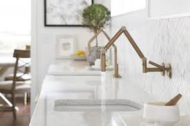 brass kitchen faucet side by side kitchen sinks with brass kohler karbon faucets