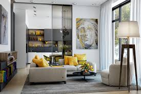 Living Room Colors With Brown Furniture Gorgeous Living Room Design With Yellow Accents Living Rooms