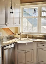 kitchen white wooden corner kitchen cabinet with granite