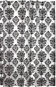 Black And White Damask Curtain Damask Curtains Amazon Com