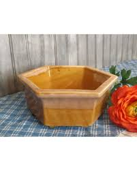 vintage drip glaze l here s a great price on vintage large haeger hex planter two tone