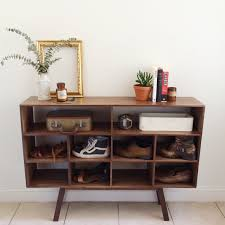 Entry Shoe Storage by Walnut Entry Table And Shoe Storage U2013 Joshua Tree Woodworks