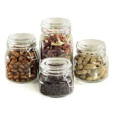Where To Buy Kitchen Canisters Amazon Com Kitchen Classics Essentials Glass 4 Piece Canister Set