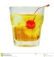 manhattan drink manhattan cocktail in old fashioned glass stock image image