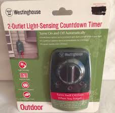 Workchoice Outdoor Grounded Outlet With by Westinghouse 2 Outlet Light Sensing Countdown Timer Outdoor 28483