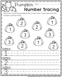 october preschool worksheets pre worksheets number