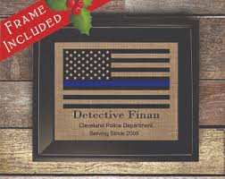 Department Gifts Personalized Officer Gifts Thin Blue Line Gifts For
