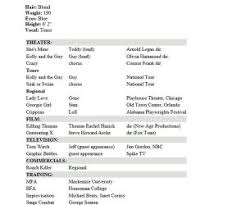 resume acting projects ideas actors resume template 15 10 acting templates cv