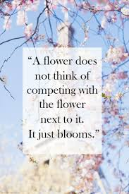 life quote board of wisdom wednesday wisdom a flower does not think of competing u2026 the