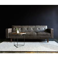 gus embassy modern saddle gray leather sofa eurway