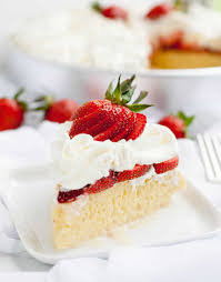 strawberry tres leches cake the merchant baker