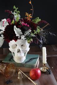 Skull Decor Diy Floral Skull Centerpiece