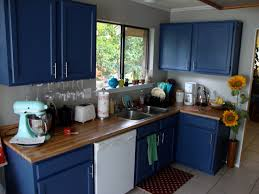 Painted Kitchen Cabinets Color Ideas Paint It Blue Combining Colour Ideas For Your Simple Kitchen With