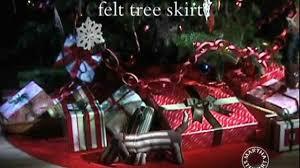 video felt tree skirt martha stewart