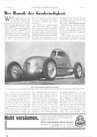 Si E Auto R Er 1934 German Land Speed Records Allgemeine Automobil Zeitung