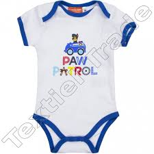 baby bodysuits paw patrol character wholesale textiel trade