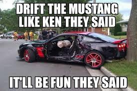 Car Accident Meme - mustang car show crash meme page 9 yellow bullet forums