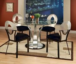 Glass Topped Dining Table And Chairs Glass Top Dining Table Set Visionexchange Co