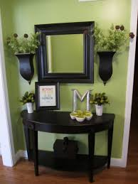 small entryway table design ideas comes with half round black
