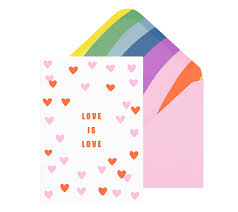 kikki quote cards b7 greeting card love is love more love