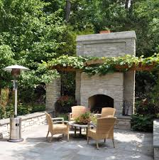fireplace stone veneer patio traditional with terrace black