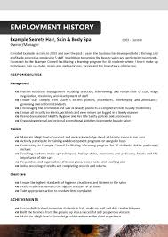 Resume Template For Hairstylist 28 Resume Sample For Beautician 10 How To Write Cosmetology