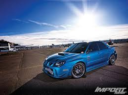 subaru wrx custom blue 2006 subaru wrx import tuner magazine
