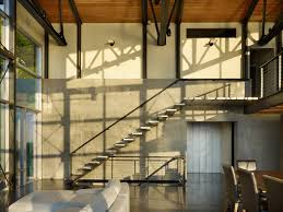 Industrial Stairs Design Metal Handrail Staircase Industrial With Balustrade Deck