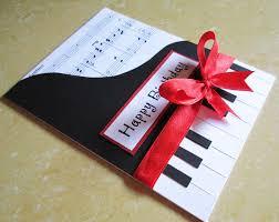 piano inspired card for him tarjetas pinterest birthday e