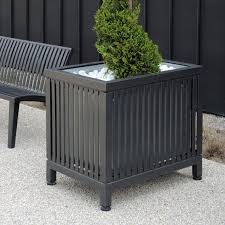 Square Metal Planter metal planter wooden square traditional mazagan area