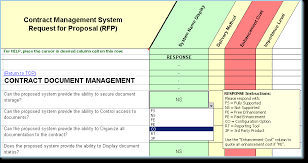 Property Management Excel Template Contract Management Software Evaluation Selection Contract