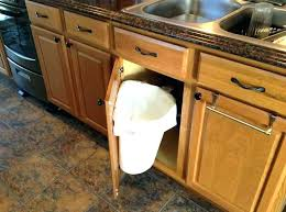 kitchen cabinet trash pull out under sink trash can under sink trash can pull out double waste bin
