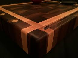 end grain cutting boards and butcher blocks custommade com black walnut and rock maple end grain chopping block by nicholas henton
