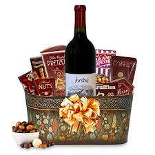 wine and gift baskets send this cabernet sauvignon wine gift basket wine gift