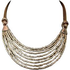 leather necklace design images Silver tone glass beads leather necklace ancient egypt jewelry png