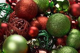 metal ornaments home decor amazon com 100 red and green christmas ornament balls shatterproof