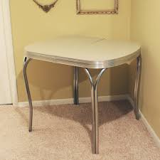 Interesting  Antique Metal Top Kitchen Table Inspiration Of - Metal kitchen table